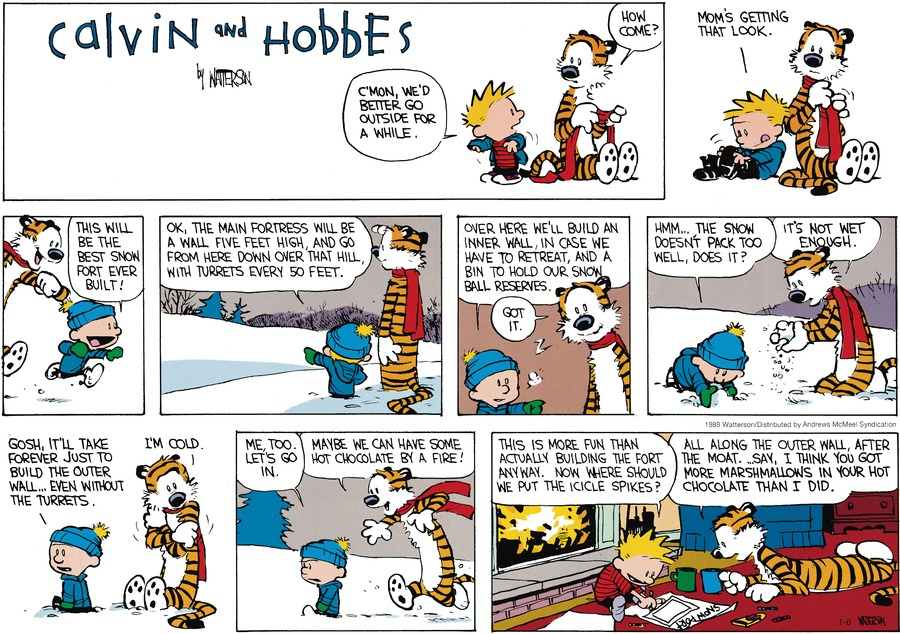 Calvin and Hobbes Comic Strip for January 06, 2019