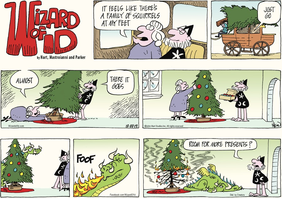 Wizard of Id Comic Strip for December 22, 2019
