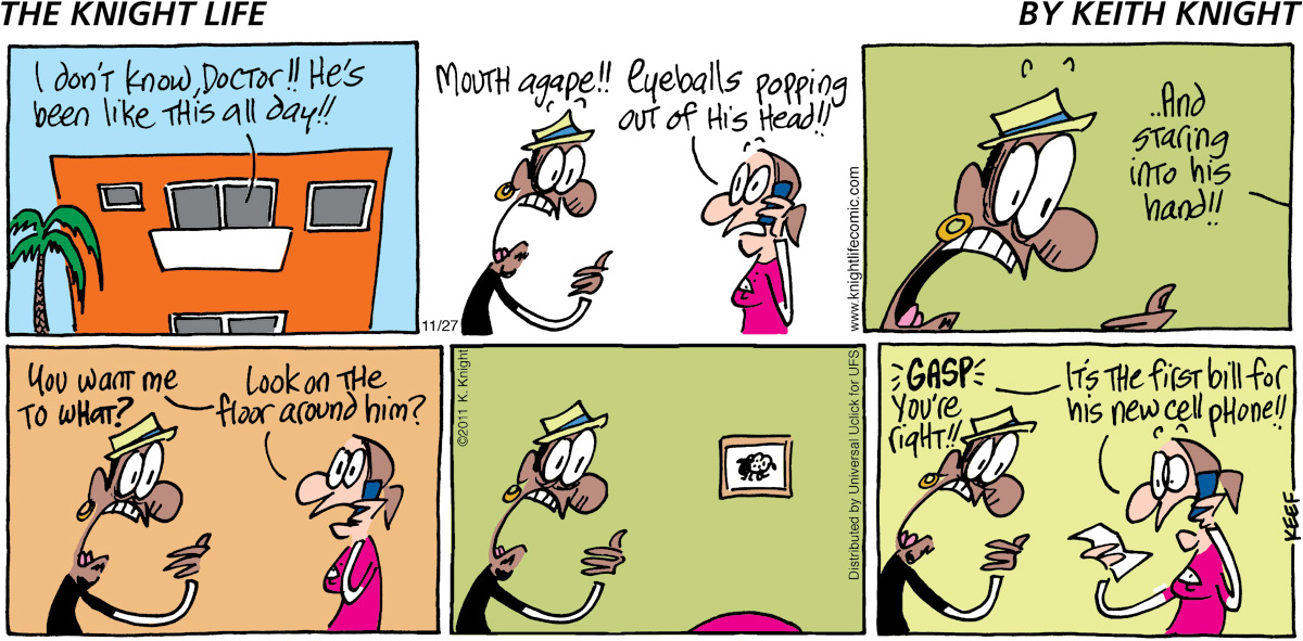 The Knight Life Comic Strip for November 27, 2011