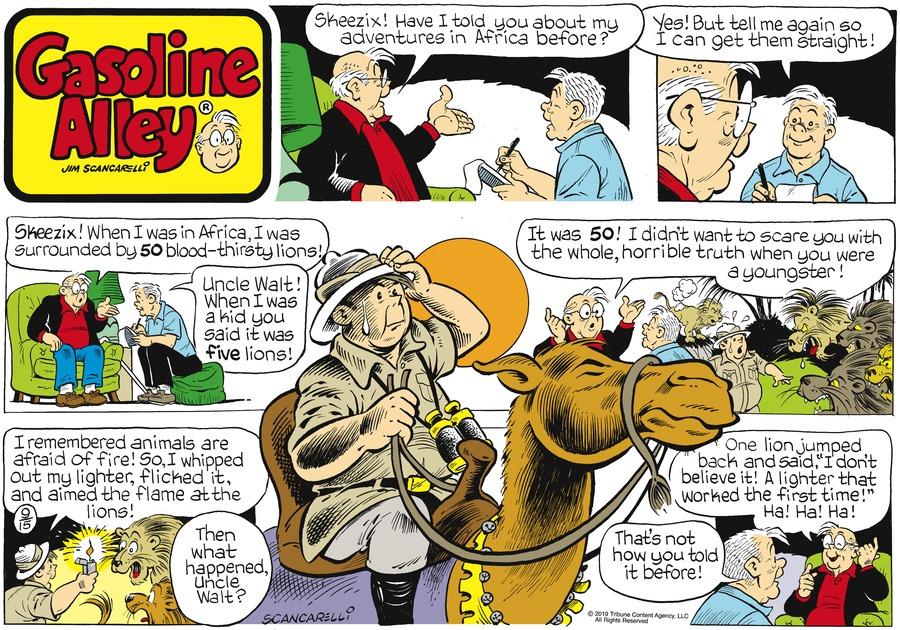 Gasoline Alley Comic Strip for September 15, 2019
