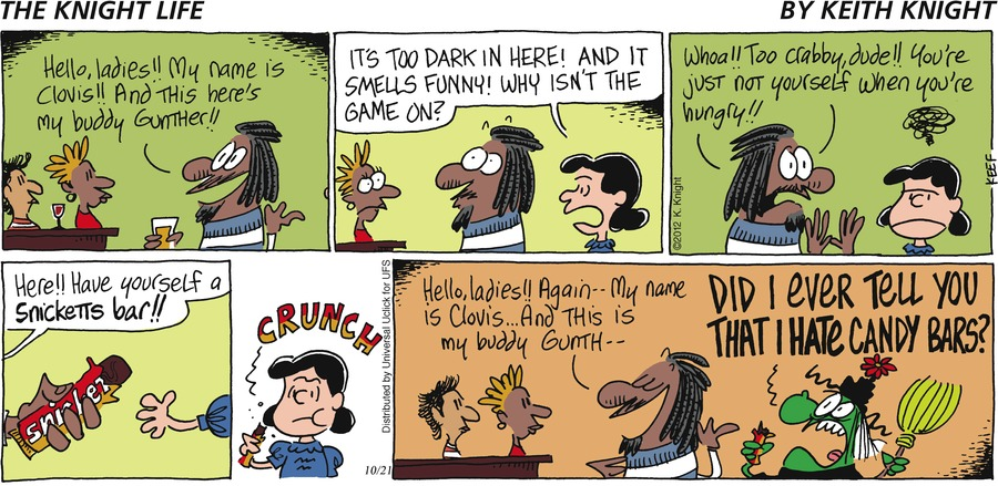 The Knight Life Comic Strip for October 21, 2012