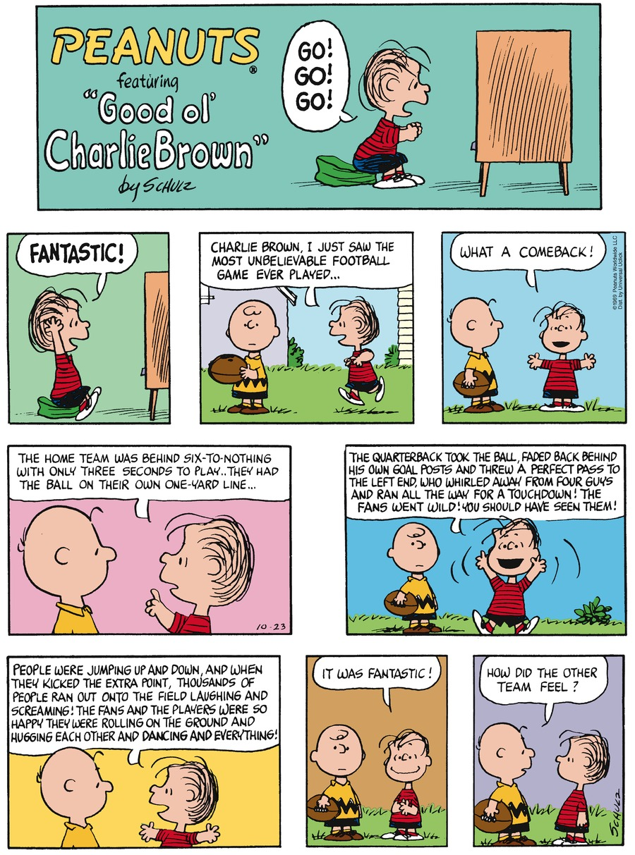 Peanuts Comic Strip for October 23, 2016
