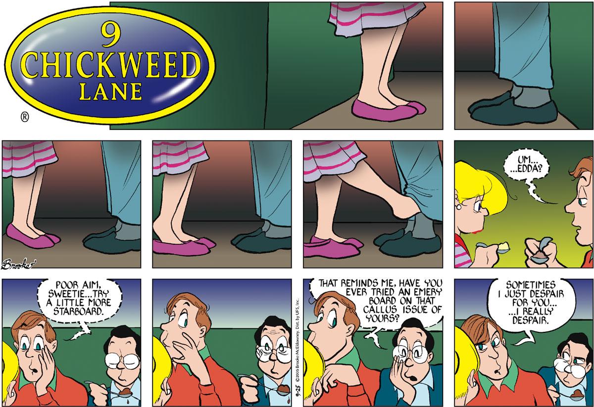 9 Chickweed Lane Comic Strip for September 25, 2005