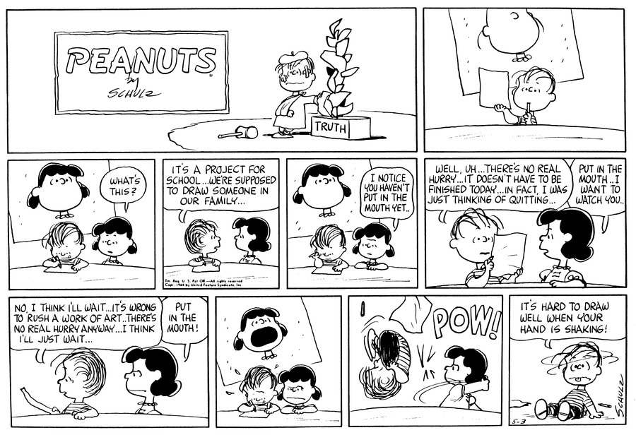 Peanuts Comic Strip for May 03, 1964