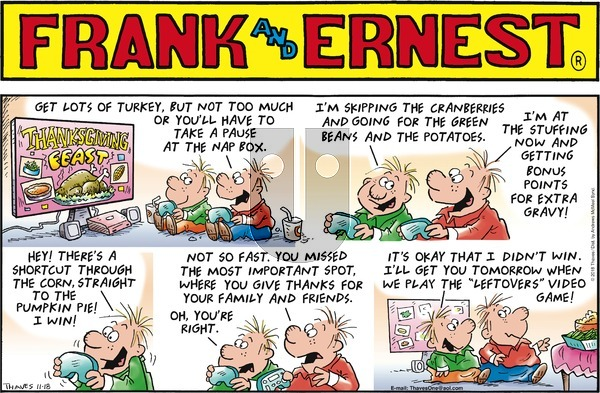 Frank and Ernest on Sunday November 18, 2018 Comic Strip