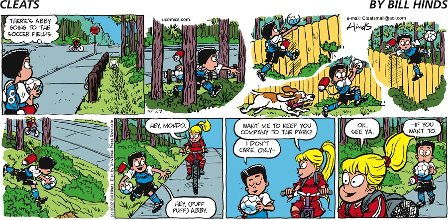 Cleats Comic Strip for October 27, 2002