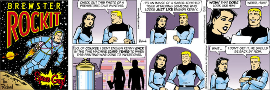 Brewster Rockit Comic Strip for October 16, 2011