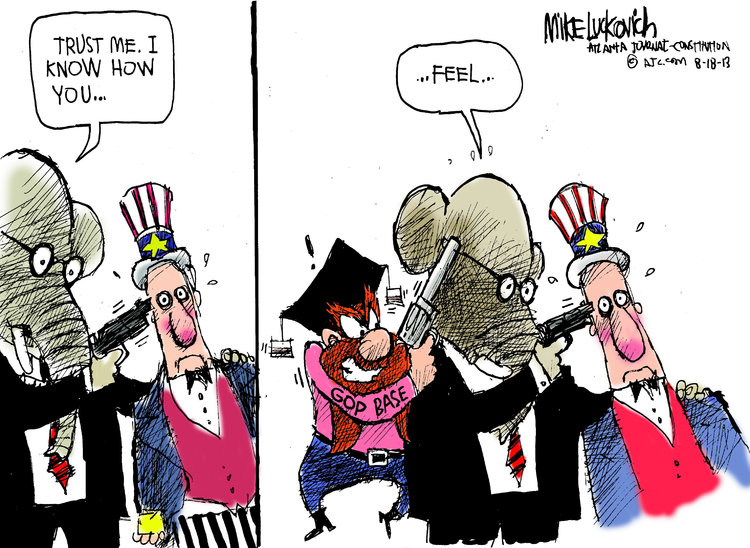 Mike Luckovich for Aug 18, 2013 Comic Strip