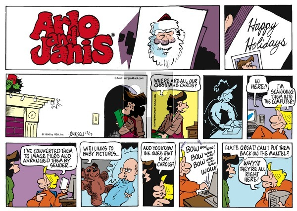 Arlo and Janis on Sunday December 15, 1996 Comic Strip