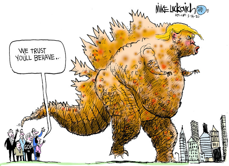 Mike Luckovich Comic Strip for February 16, 2020