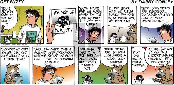 Get Fuzzy on Sunday October 24, 2010 Comic Strip