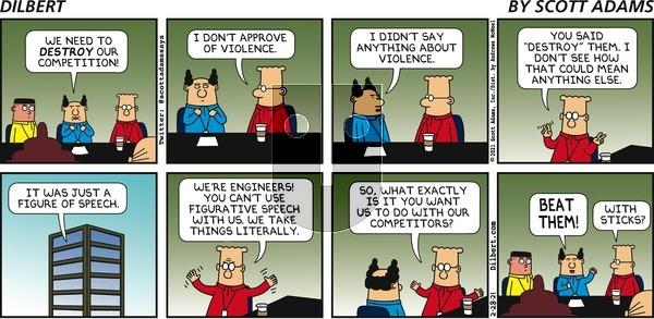 Dilbert on Sunday February 28, 2021 Comic Strip