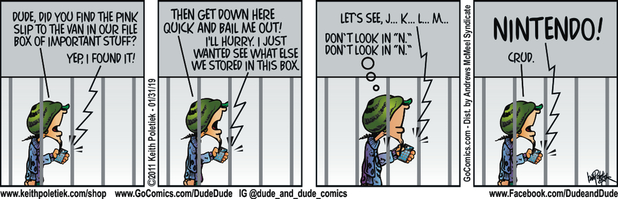 Dude and Dude Comic Strip for January 31, 2019