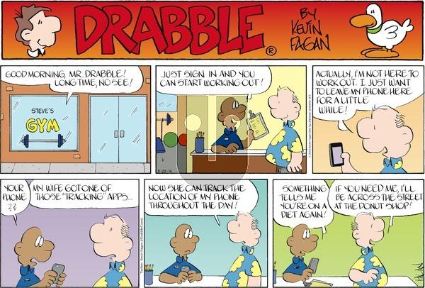 Drabble on Sunday August 28, 2016 Comic Strip