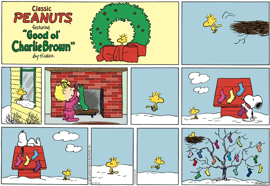 Peanuts Comic Strip for December 23, 2001