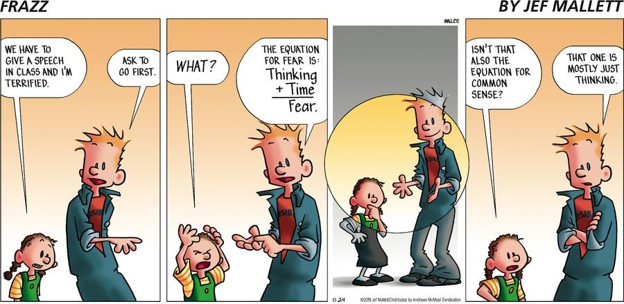Frazz Comic Strip for November 24, 2019