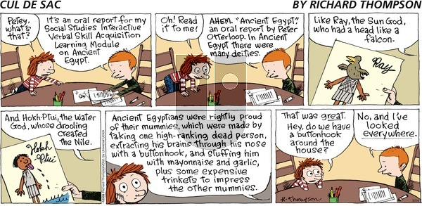 Cul de Sac - Sunday March 24, 2013 Comic Strip