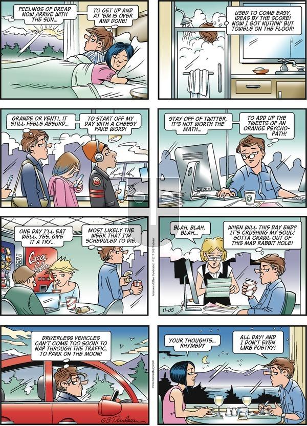 Doonesbury on Sunday November 5, 2017 Comic Strip