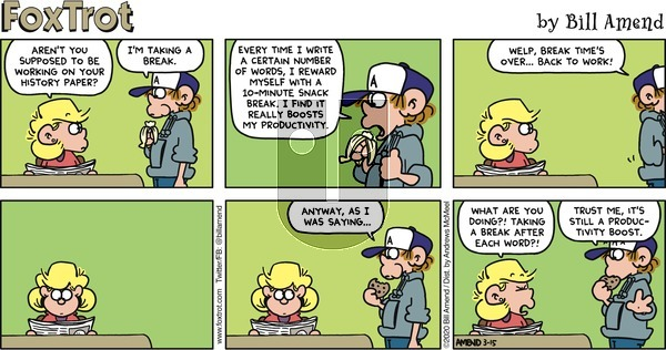 FoxTrot - Sunday March 15, 2020 Comic Strip