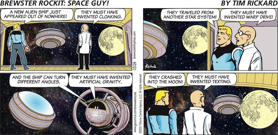 Brewster Rockit Comic Strip for March 29, 2020