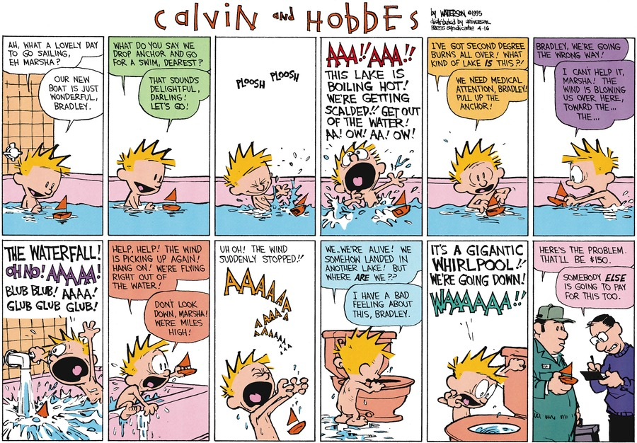 Calvin and Hobbes for Apr 16, 1995 Comic Strip