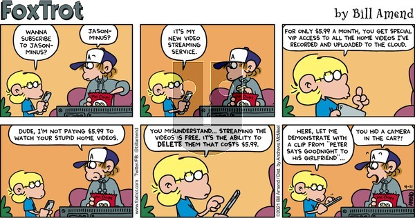 FoxTrot on Sunday April 11, 2021 Comic Strip