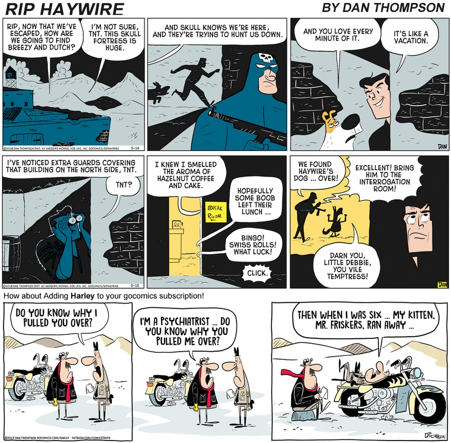 Rip Haywire Comic Strip for October 04, 2020