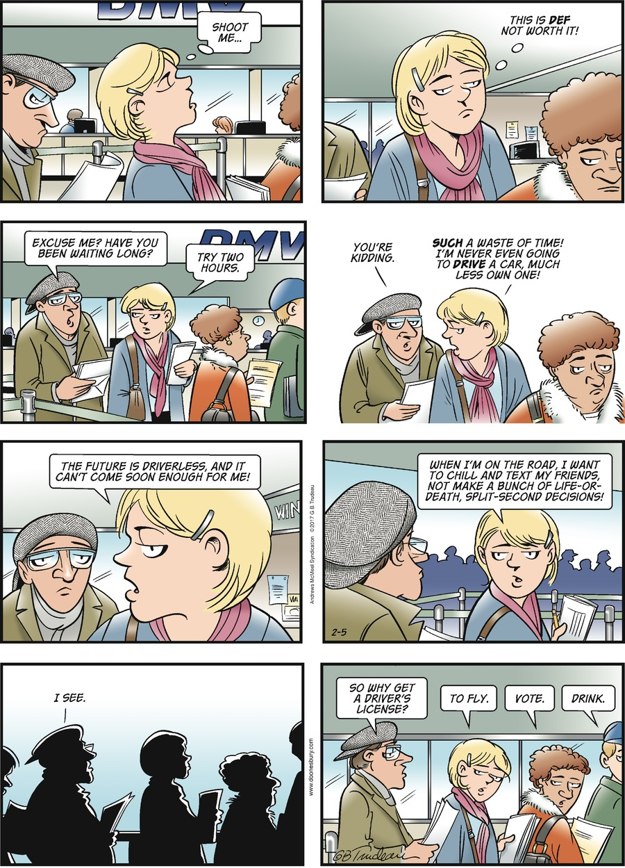 Doonesbury Comic Strip for February 05, 2017