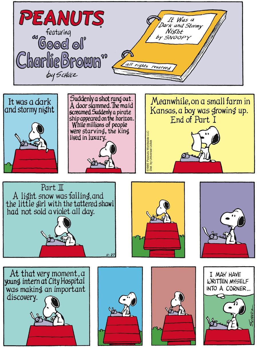 Peanuts Comic Strip for November 27, 2016