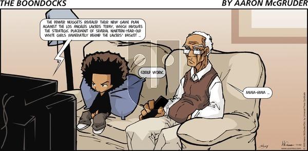 The Boondocks on Sunday November 30, 2003 Comic Strip