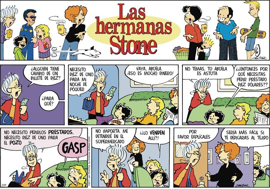 Las Hermanas Stone Comic Strip for March 28, 2021