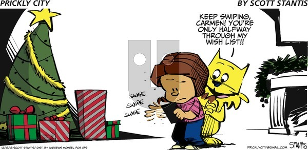 Prickly City on Sunday December 16, 2018 Comic Strip