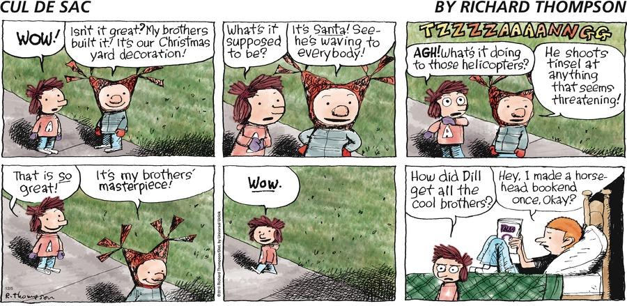 Cul de Sac for Dec 5, 2010 Comic Strip