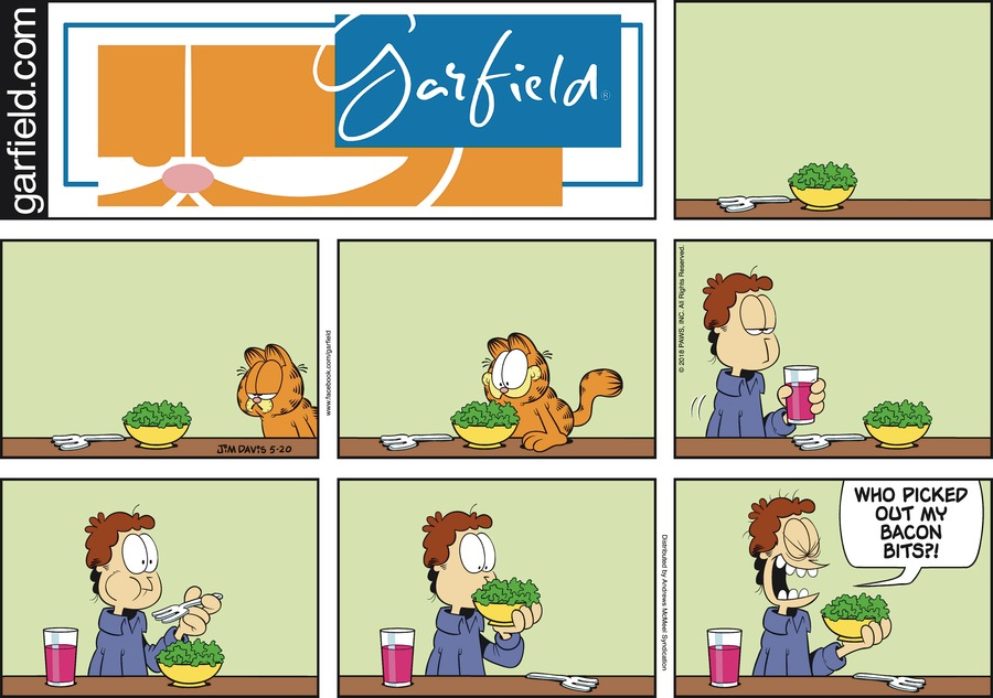 Garfield Comic Strip for May 20, 2018
