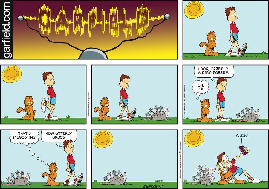 Garfield Comic Strip for August 20, 2017