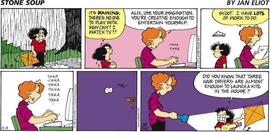 Stone Soup Comic Strip for September 19, 1999