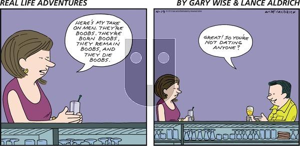Real Life Adventures on Sunday April 19, 2015 Comic Strip