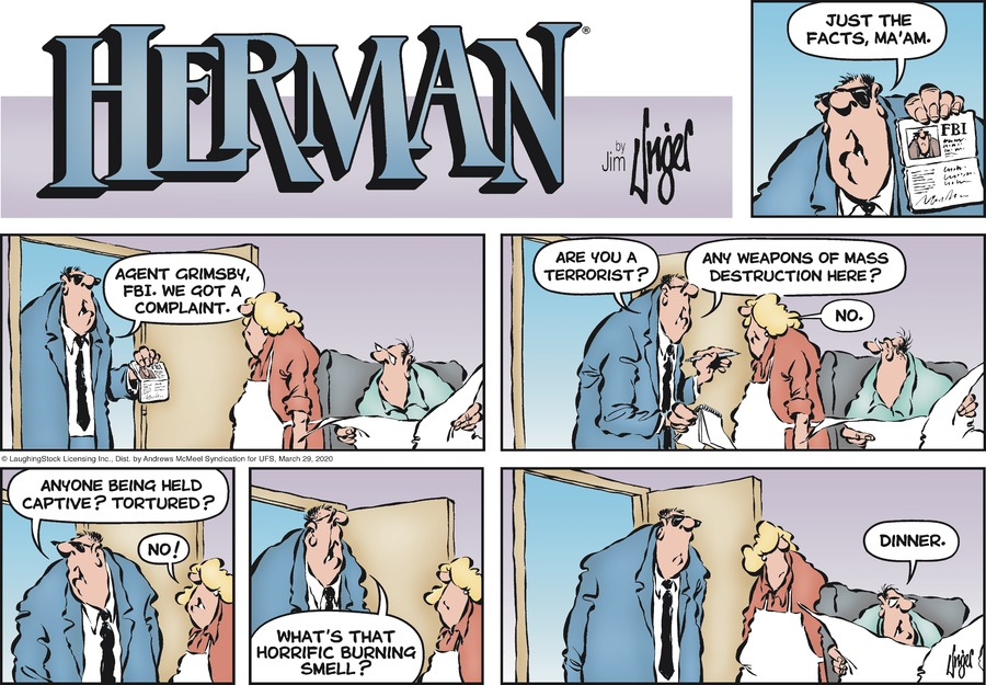 Herman Comic Strip for March 29, 2020