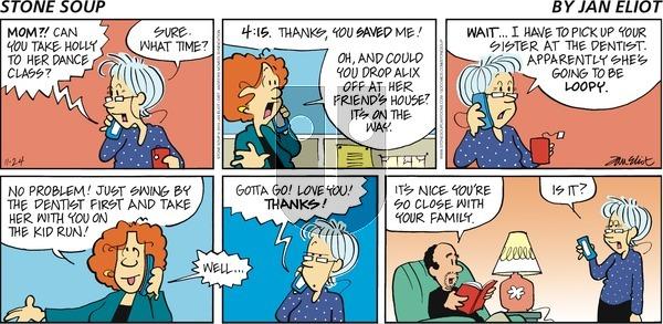 Stone Soup - Sunday November 24, 2019 Comic Strip
