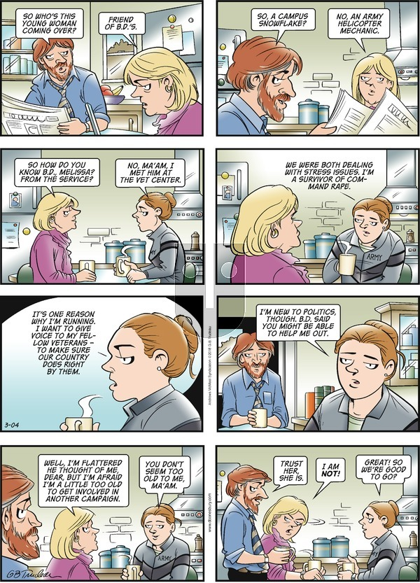 Doonesbury on Sunday March 4, 2018 Comic Strip