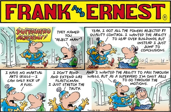 Frank and Ernest on Sunday March 25, 2018 Comic Strip