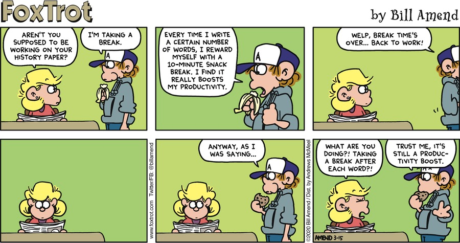 FoxTrot Comic Strip for March 15, 2020