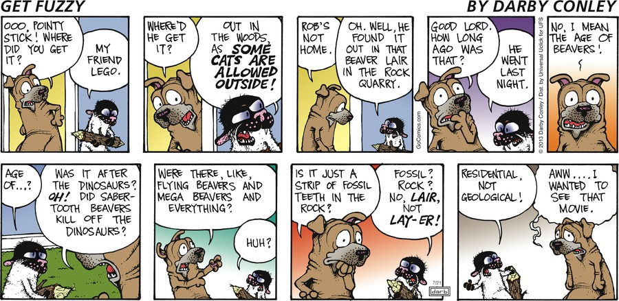 Get Fuzzy Comic Strip for July 21, 2013