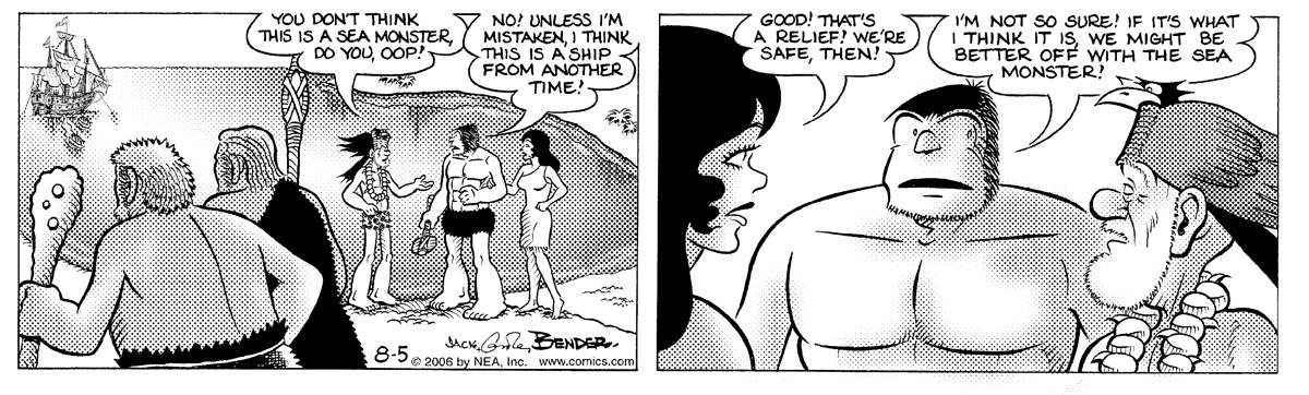 Alley Oop for Aug 5, 2006 Comic Strip