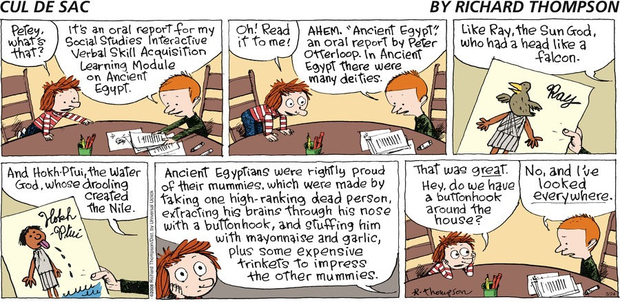 Cul de Sac for Mar 24, 2013 Comic Strip