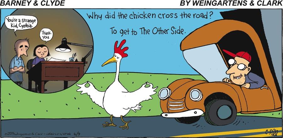 Barney & Clyde Comic Strip for June 09, 2019