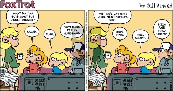 FoxTrot on Sunday May 2, 2021 Comic Strip