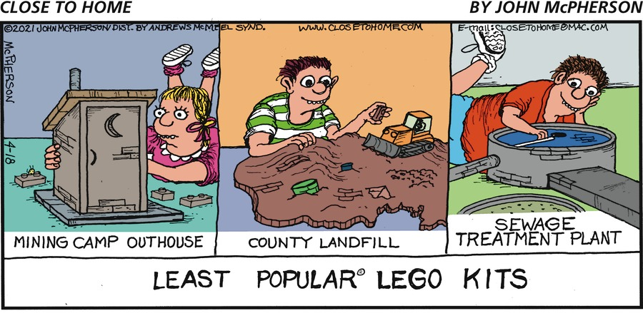 Close to Home Comic Strip for April 18, 2021
