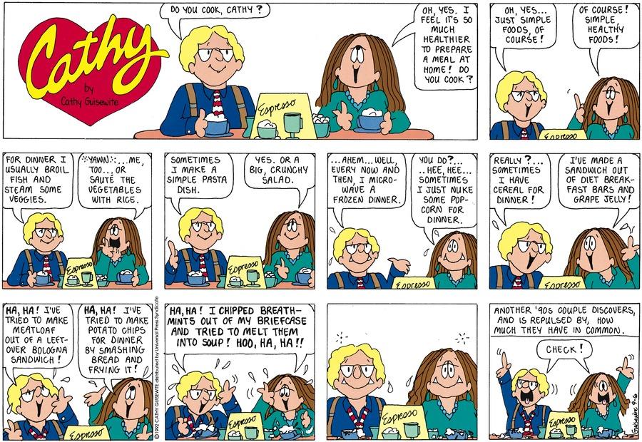 Cathy Comic Strip for September 06, 1998