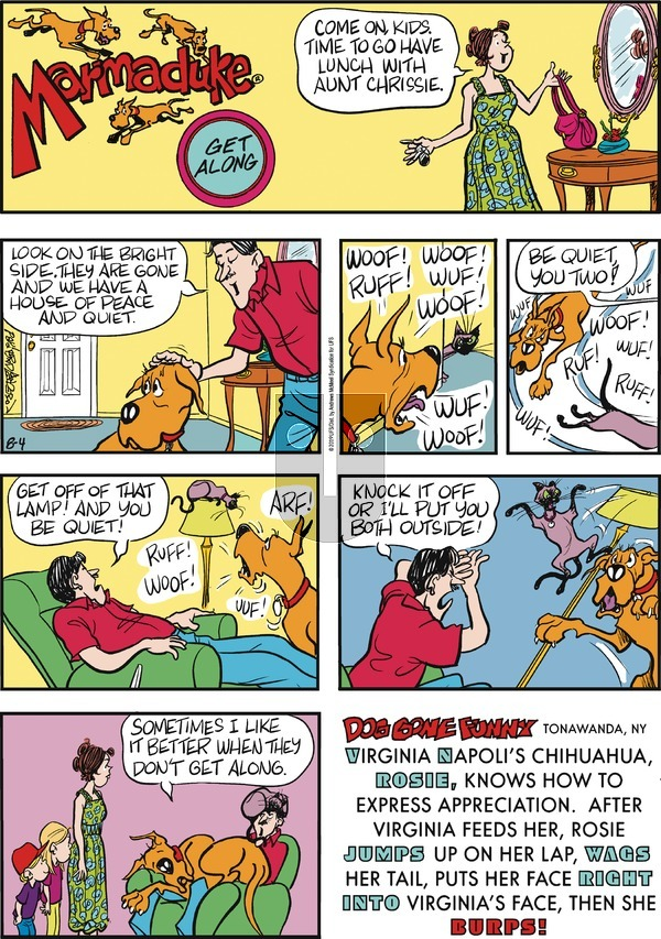 Marmaduke - Sunday August 4, 2019 Comic Strip
